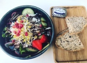 Lunch met volkoren brood