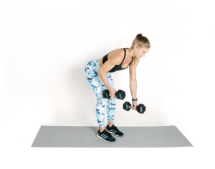 Alternating bent over Row 2